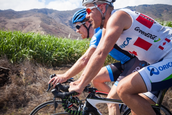 Tyler Farrar and Svein Tuft